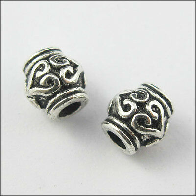 Free Shipping 30Pcs Tibetan Silver exquisite Pattern Spacer Beads 6x7mm