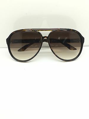 Gucci GG1627/S 7911W Tortoise Green Red Aviator Frame w/ Gradient Brown Lenses