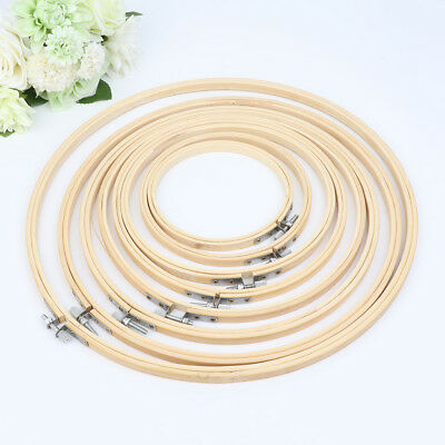 13-34cm Bamboo Wooden Cross Stitch Machine Embroidery Hoop Ring Sewing Craft DIY