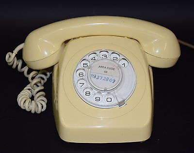 Retro Vintage Rotary Dial Up Phone AWA 802 1982 Telecom Telephone 80's Working