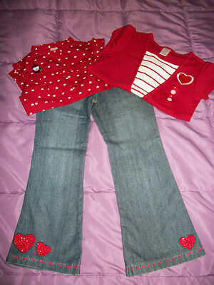 NWT Gymboree~~Bon Voyage~~3 Pc Outfit Lot~~2 Tops and Jeans~~Size 6
