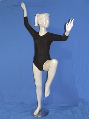 Body danza classica in cotone manica3/4. Made in Italy