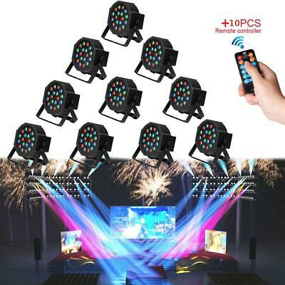 10 X 18 LED RGB DMX Light PAR CAN DJ Stage Lighting for Wedding Party Uplighting