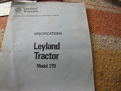 Leyland Tractor Model 270 Specifications