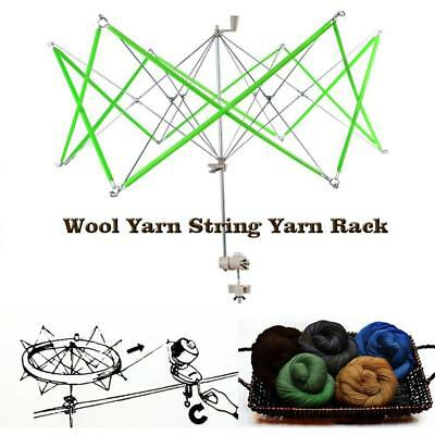 Knitting Umbrella Swift Wool Yarn String Winder Skeins Line Yarn Holder Tool AM