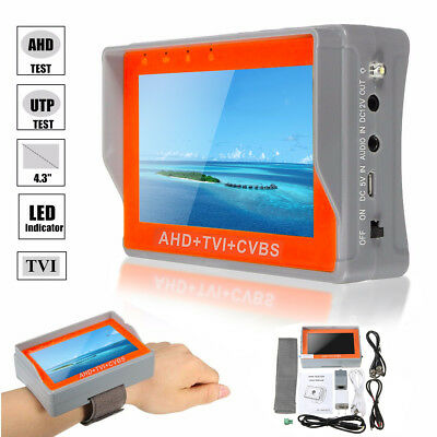 4.3inch 1080P LCD Video Surveillance Network AHD Tester Monitor HD Support TVI