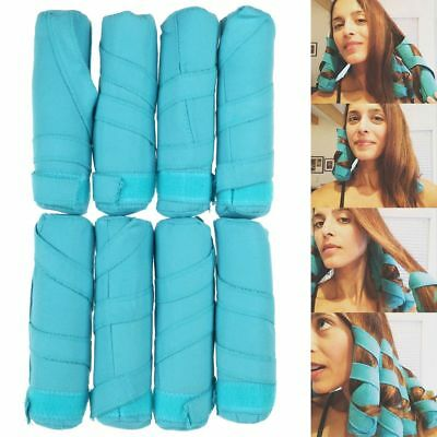 "Styler in Sleep Kit Long NIP 8 Teal Rollers Curlers 6"" Long Shark Tank Curler CA"