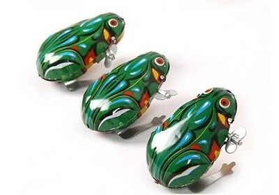 10X Kids Wind up Tin Frogs For market stall