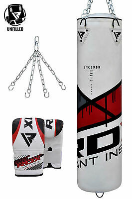 RDX New Punching Bag Free Standing Bag Mitts Boxing Gloves Target Dummy Unfilled