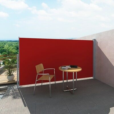 New Wall Side Awning 160x300cm Patio Sun Shade Screen Protection Terrace Red