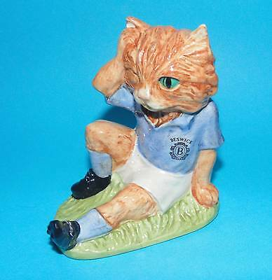 Beswick figurine ornament Football cat ' Mee Ouch ' FF2 LTD EDITION 1st Quality