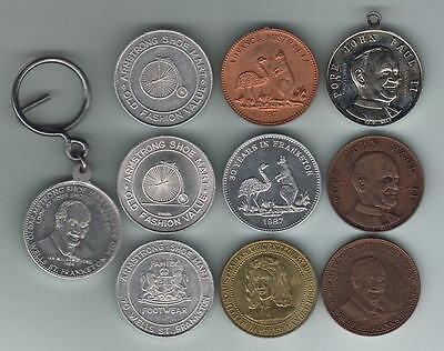 Australia. Collection of Armstrong Tokens. 10 pcs - all diff Metals or Designs