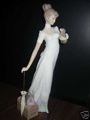 Traveling Companions - Woman And Puppy Porcelain Figurine Lladro  #6753