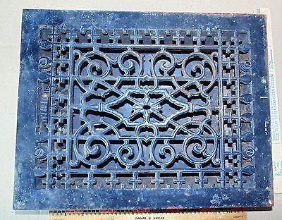 Antique VICTORIAN Cast Iron 1886 Tuttle & Bailey Floor Register Grate