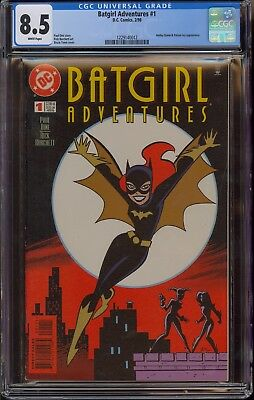 Batgirl Adventures #1 CGC 8.5 VF+ white pages, early Harley Quinn appearance
