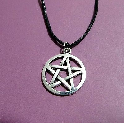 Pentagram Pentacle Star Circle Pendant Adjustable Necklace