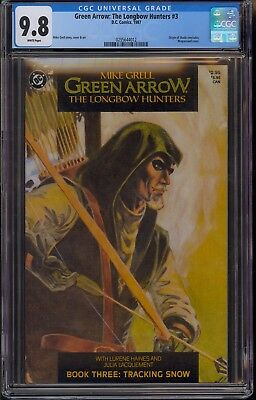 Green Arrow: The Longbow Hunters #3 CGC 9.8 NM/MT White Pages DC 1987 SHADO