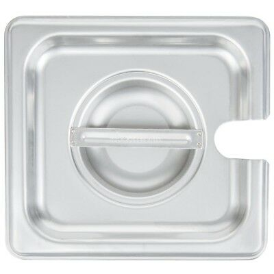 Restaurant Supplies 3 STAINLESS STEEL STEAM TABLE FOOD PAN LIDS SLOTTED 1/6th
