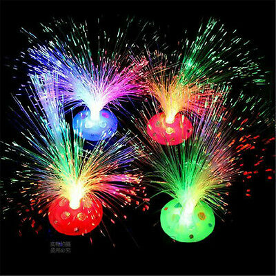 LED Color Changing Fiber Optic Night Light Lamp Colorful Home Party Decor  (