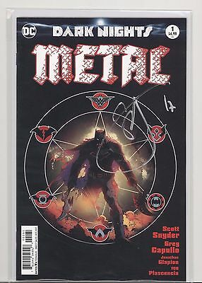 Dc Dark Nights Metal #1 Variant Signed By Scott Snyder With Coa! Last One