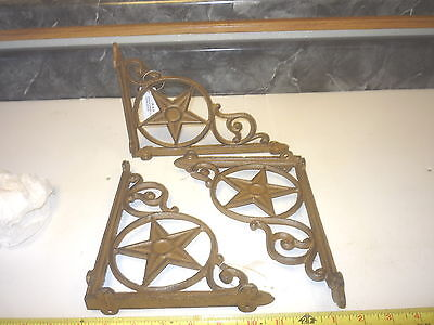 2  New Cast Iron Star Shelf Porch Window Wall Bracket Hanger