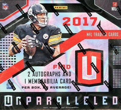 2017 Panini Unparalleled Football Hobby Box Blowout Cards
