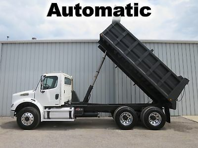 M2 C-13 Cat 380-Hp Diesel Automatic Tandem Axle Dump Bed Body Truck 161-K Miles