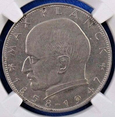 1958F Germany 2 Mark Certified NGC MS62