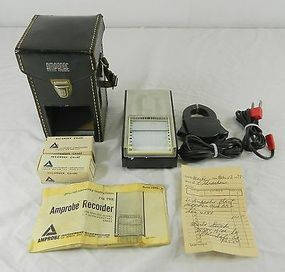 Vintage 1972 Amprobe Chart Recorder Model Aa2, S/n 4588, W/ Case, Instructions