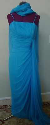 BEAUTIFUL VINTAGE 1950's BLUE EMMA DOMB GOWN