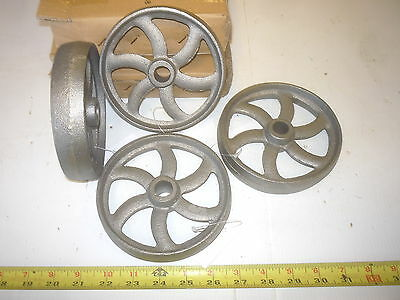 12  Cast Iron Wheel   Sm Hit & Miss Gas Engine Maytag Cart Curved Spoke  Wheel