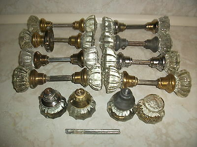 Lot 20 Glass Door Knobs Antique Vintage Arts Crafts Entry