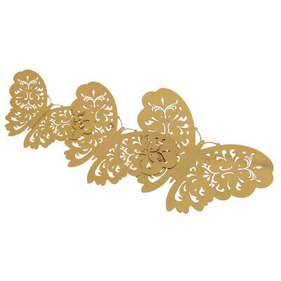 12 Metallic 3D Butterfly Wall Stickers Art Decal Wedding Party Decor Mixed Sizes