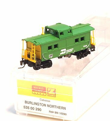 Micro-Trains MTL Z-Scale Center Cupola Caboose Burlington Northern/BN 10280