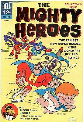 The Mighty Heroes # 1 - Dell Comics - 1967 - Heckle And Jeckle - Cents Copy