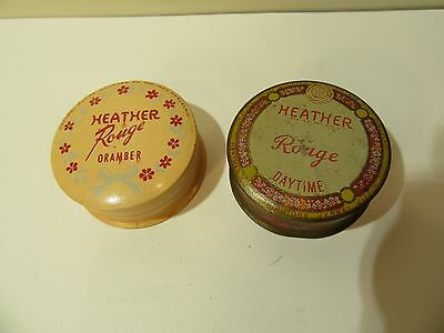 Vintage Cosmetic Rouge Tins Heather Company