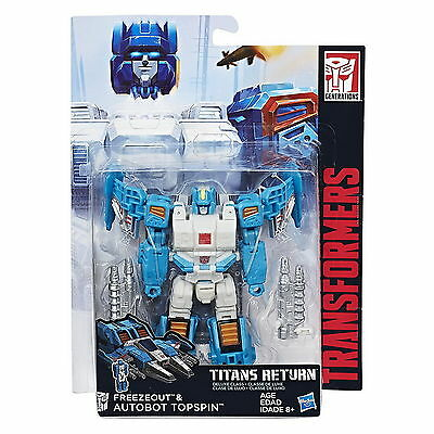 Transformers Generations Titans Return Deluxe Autobot Topspin & Freezeout Wave 4
