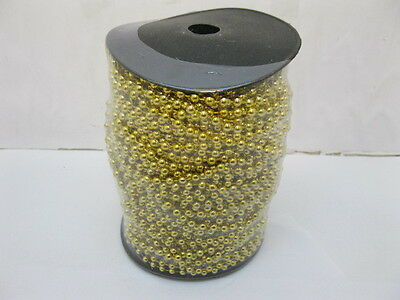 1Roll X 50Yds Golden Plated Ball Beaded Chain for Craft 4mm