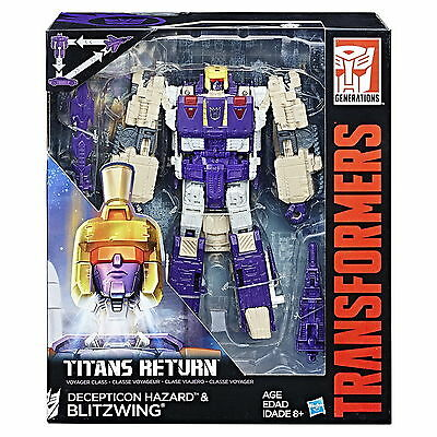 Transformers Generations Titans Return Voyager Blitzwing and Decepticon Hazard