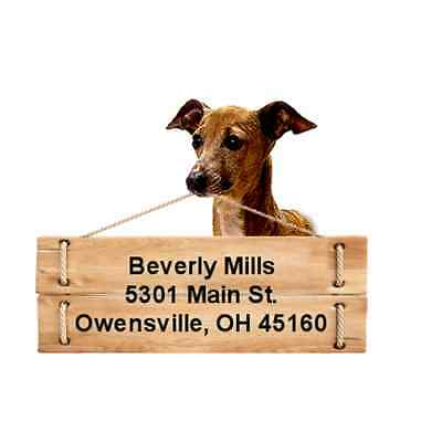 Italian Greyhound return address labels DIE CUT TO SHAPE