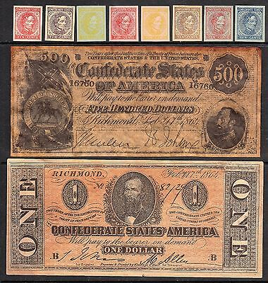 Us / Csa Facsimiles Stamps And Currency