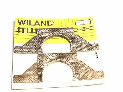 Z-scale WILAND Tunnel Portal Stonewall, double Track, 2each