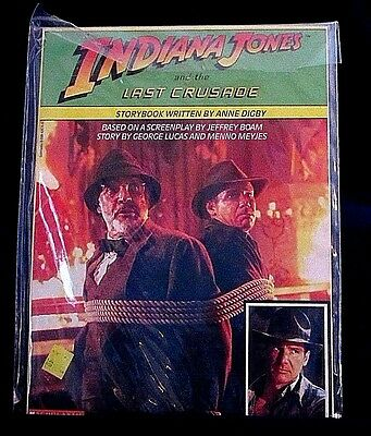 Indiana-Jones-&-The-last-Crusade-Storybook-Scholastic-Produced-1989-Collectible