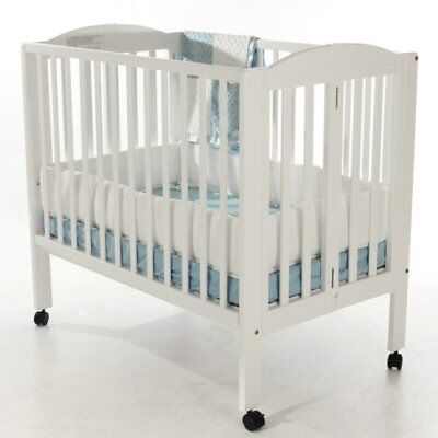 Dream On Me 2 in 1 Portable Folding Stationary Side Crib New