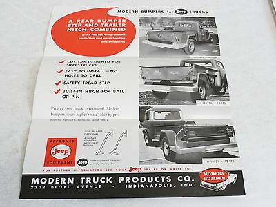 * Vintage Modern Bumpers For Jeep Trucks Automobile Brochure *