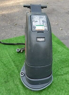 "Global Electric Auto Floor Scrubber 18"" Cleaning Path - Corded Walk Behind"