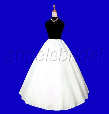 A-Line Bridal Wedding Gown Civil War Costume Prom Crinoline Petticoat Skirt Slip
