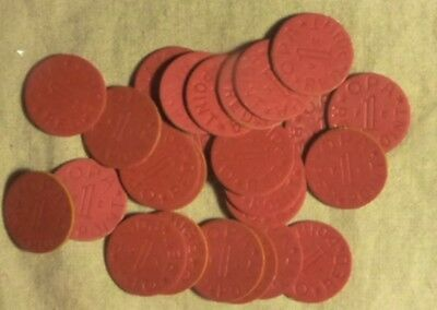 Tokens: :  25 WWII Red Ration Tokens