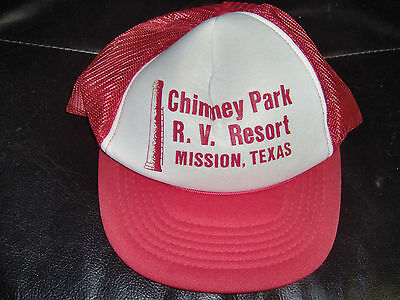 Chimney Park RV Resort Red Hat Baseball Cap