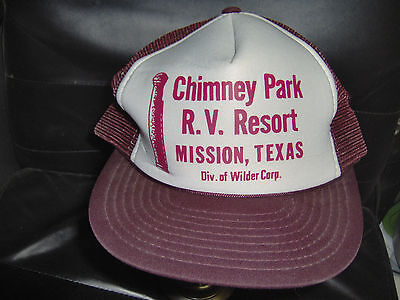 Chimney Park RV Resort Burgundy Hat Baseball Cap